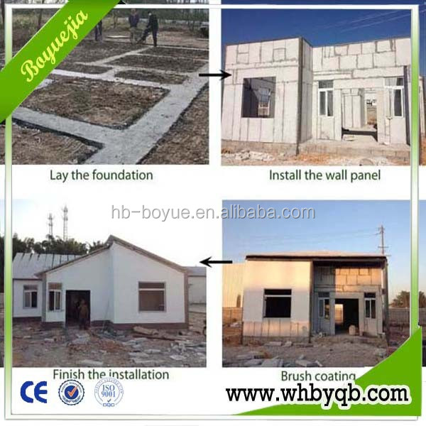 China low cost prefabricated homes made by eps cement sandwich panel