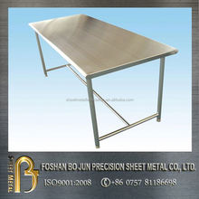 High precision customized brushed stainless steel table furniture sheet metal fabrication