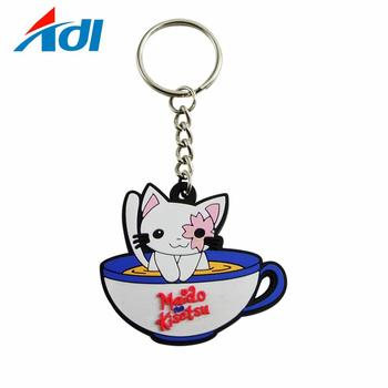 custom high quality sublimation keychain pvc in guangzhou