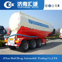 Powder material transport semi trailer with electrical motor
