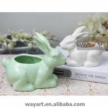 Ceramic Rabbit of Candy Holder