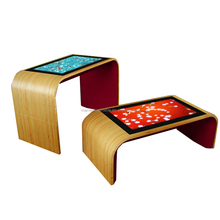 42 inch interactive smart wooden multi touch table with lcd screen