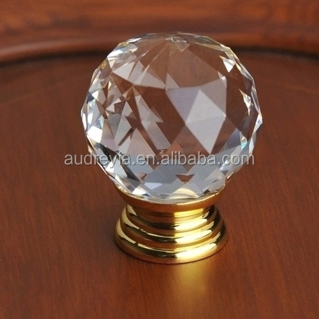 Clear/colored crystal door knob wholesale