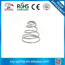 conical stainless steel battery compression spring for toys