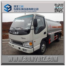 5000L fuel oil delivery trucks 4x2 small oil tanker JAC fuel transport tanker
