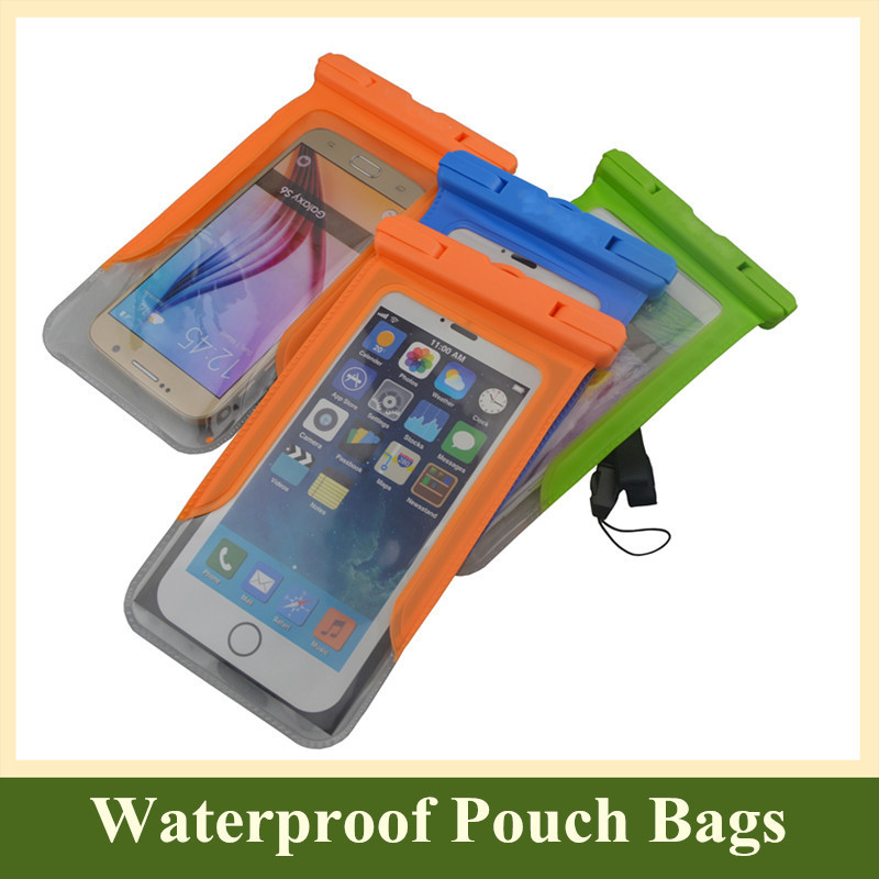 Universal 5.8 inch Waterproof Pouch Dry Bag Protective Skin Phone Cases Cover for Samsung Galaxy Note 4 3