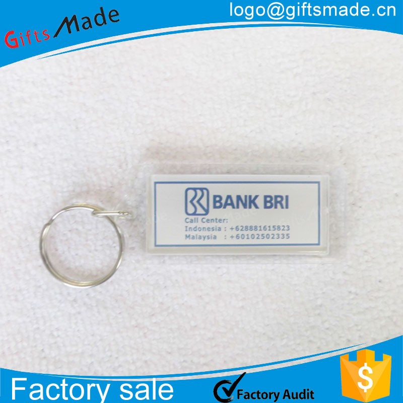 custom design acrylic plastic photo carabiner keychain key holder key ring as business promotion gifts wholesales