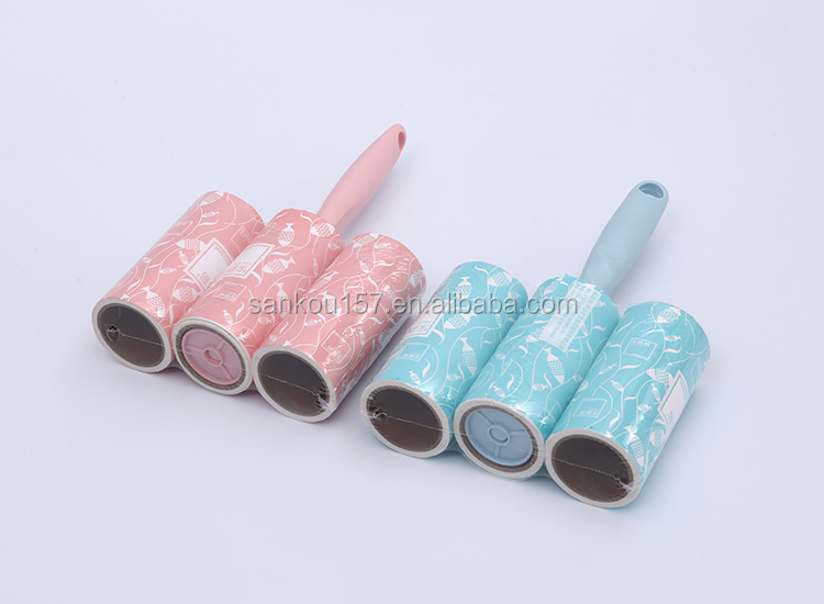 OEM/ODM factory direct pet hair cleaning colorful printed lint roller
