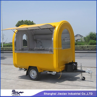 JX-FR220B professional on promotion outdoor mobile fryer food van for sale