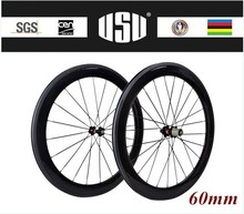 Excellent quality 60mm mavic carbon wheels 700c clincher wheelsets with free shipping