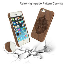 Mobile phone accessories black walnut Handmade Wood Cover Case for iPhone 5
