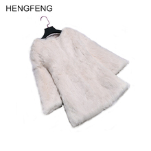 Women Winter Coat Warm New Faux Rabbit Coat Outerwear Women's Fashion Fur Coat