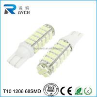 2x T10 68 SMD 1206 LED White Car Dome License Plate Light Lamp Bulb 12V 3.5W gu 10 led