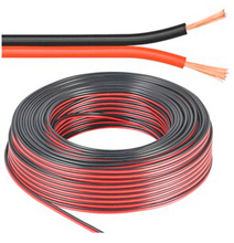 TWO-Conductor Black/Red Cable UL2468 AWM Electric Wire