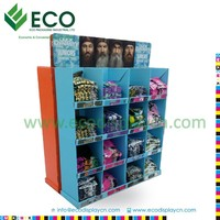 Shenzhen ECO Strong T-shirt Display Rack with Corrugated Material, T-shirt Cardboard Display