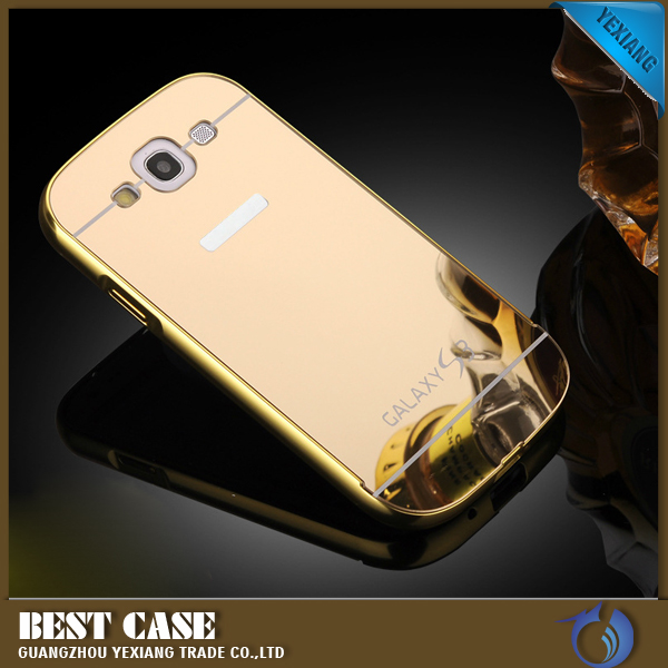 2016 high quality mirror case for samsung galaxy s3 metal bumper