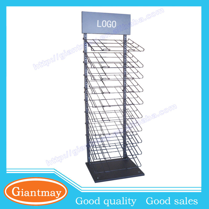 multi-tier metal wire floor displays and tiles for ceramic shop