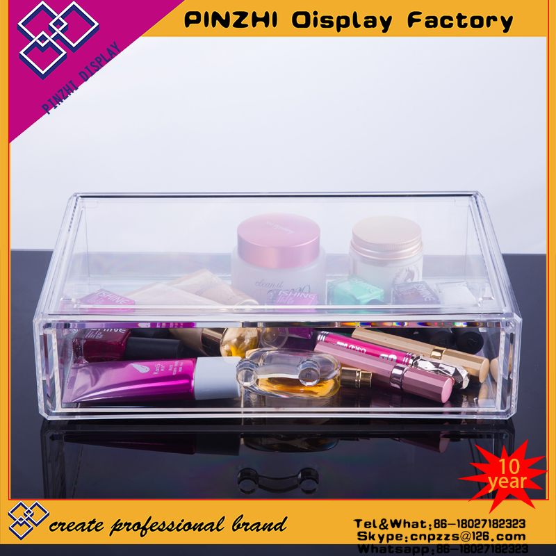 wholesale acrylic jewelry and cosmetic storage display boxes