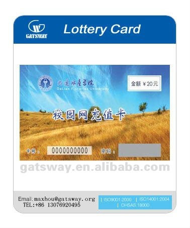 Double Sides Printed Lottery Card
