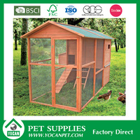 chinese small cheap wooden chicken coop design with wire mesh for sale