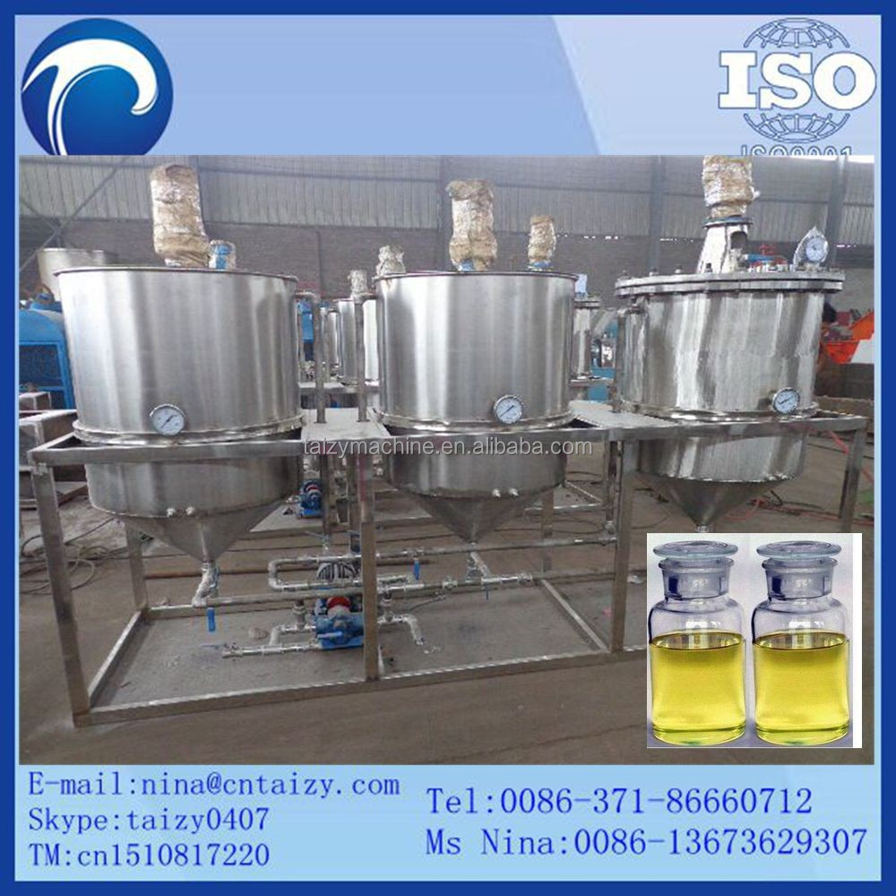 high output oil refining equipment edible oil production line