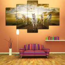 Running Horse Hot Canvas Prints Painting Wall Art 5 Pieces Home Decor Picture Panels Poster For Living Room no frame