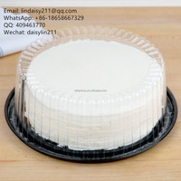 round disposable plastic cake dome containers
