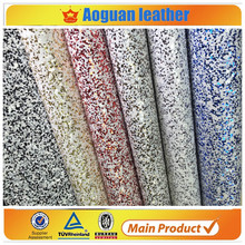 2016 glitter pu leather with white multi cheeni glitter leather fabric for shoes and bags