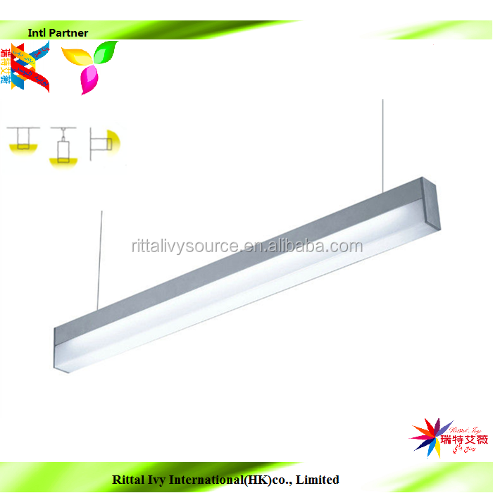30w 60w LED linear high bay Light for plant operation line parking lot and indoor sports field