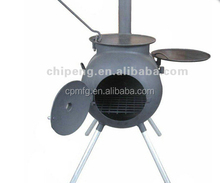 2015 Cheapest product outdoor cast iron wood stove