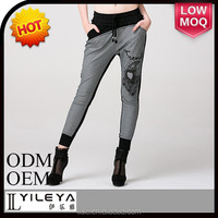 2014 fashional slim mature pants for sexy ladies ladies trouser cutting