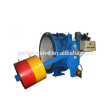 Counter weight slow closing non return butterfly valve