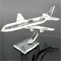 2015 new crystal gifts items crystal plane model