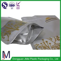 Factory produced stand up poly grip seal zipper rice bag for cooking use