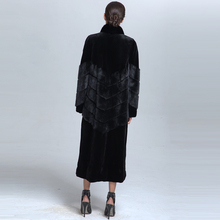 High quality OEM service Winter Girls Mink Fur Overcoat