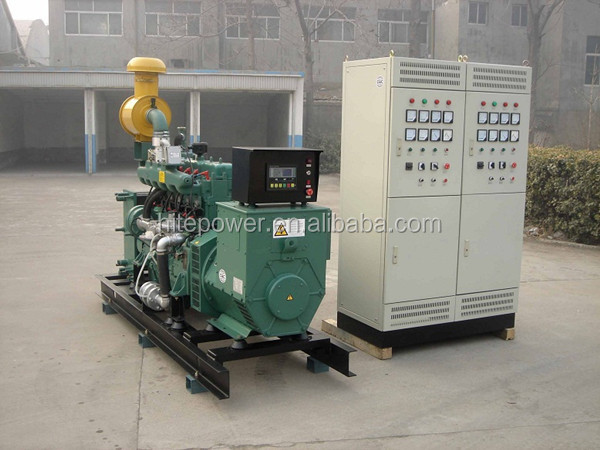 CE & factory price approved 60kw silent biogas generator with desulfurization unit