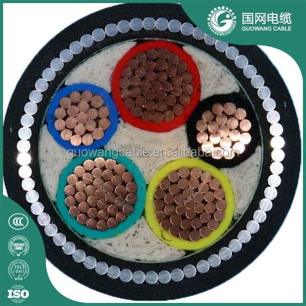 Low Voltage Copper Core 70mm 5 Core Cable Underground
