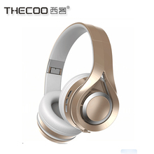 OEM brand 4.1 bluetooth earphone with mic, Thecoo HI-FI stereo bluetooth earphones