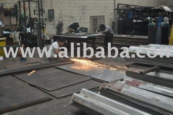anchor bolts, steel fabrication, I-beams, purlins, guardrails, etc.