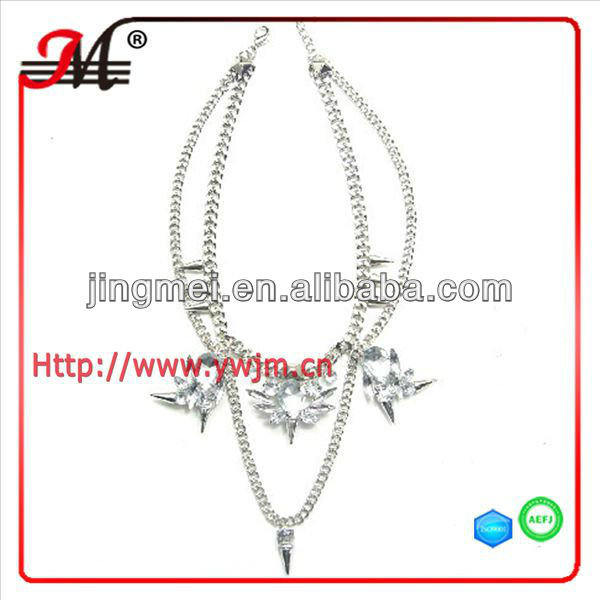 fashion rivet element clavicle necklace magazine model jewelry 2013 N071303