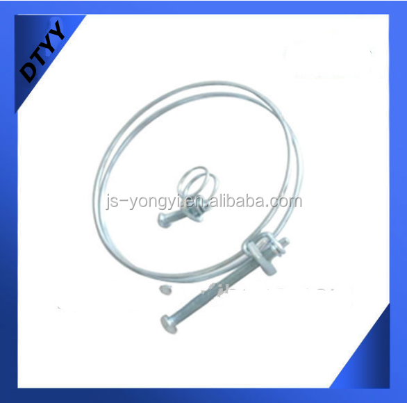 Manufacturer Sale! SUS201Stainless Steel Double Wire Hose Clamps For Aligner Wheel Clamps 63-68mm