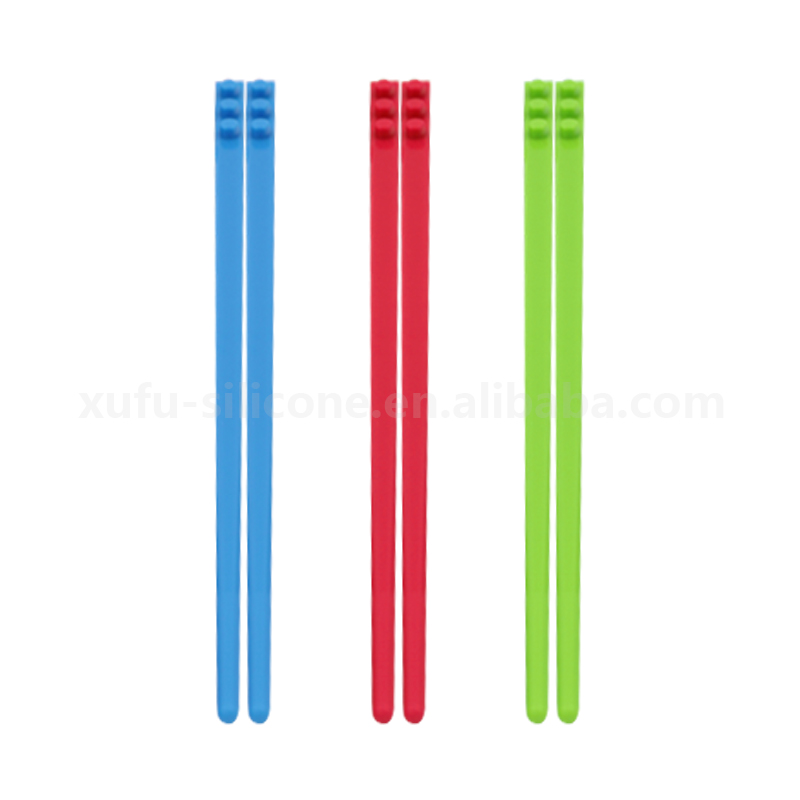 Fashionable easy clean silicone clolored sushi chopsticks long cooking chopsticks with multifunction