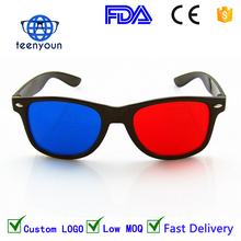 teenyoun Yiwu hot sale unisex home movie video good price bulk buy red blue 3d glasses