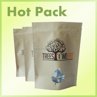 foil heat seal kraft paper bag / matte food packaging
