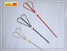 Convenient bamboo sticks f for star hotel bamboo knot bbq stick finger string with Customized Logo