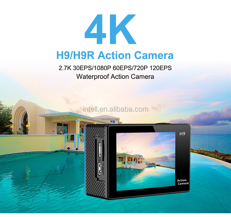 Hot!!! Action camera deportiva Original H9 / H9R remote Ultra HD 4K WiFi 1080P 60fps 2.0 LCD 170D sport go waterproof pro camera