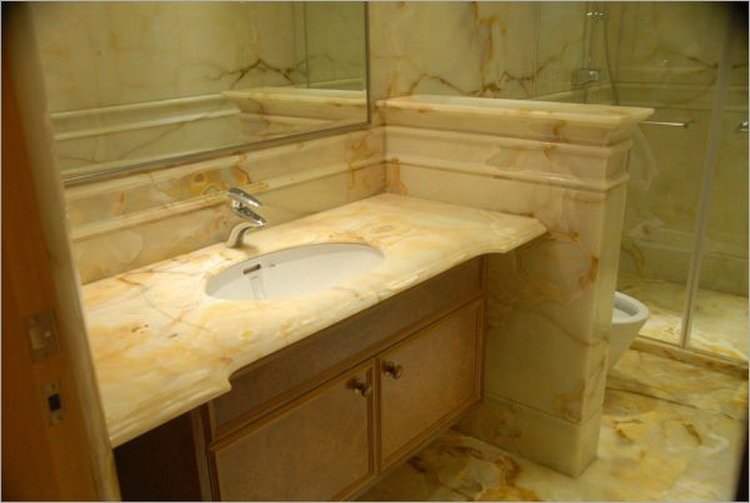 Cheapest factory prices new products golden cream marble countertop