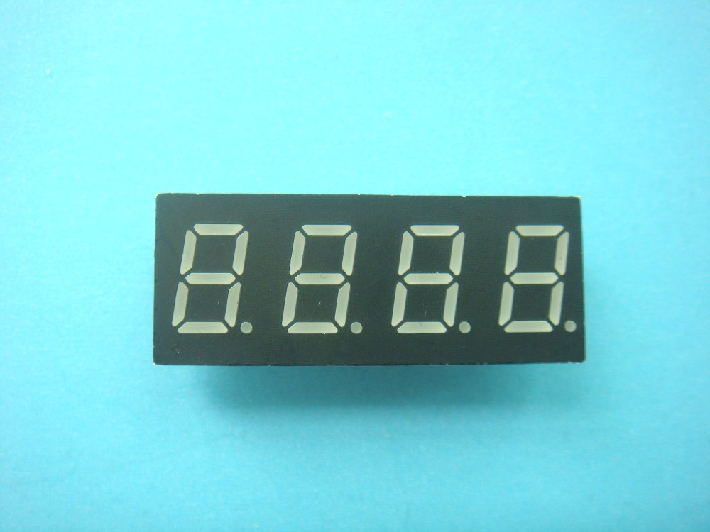 """2pcs New 0.36/"""" 0.36 inch 7 Segment Display Red LED 4 Digit Common Anode"""