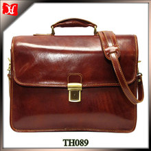 Custom large business laptop bag 17 18 inch leather laptop bag