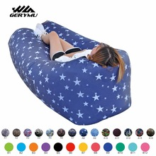 Outdoor indoor laybag Air Lounger Camping beach Chair Lazy Air Inflatable Sofa